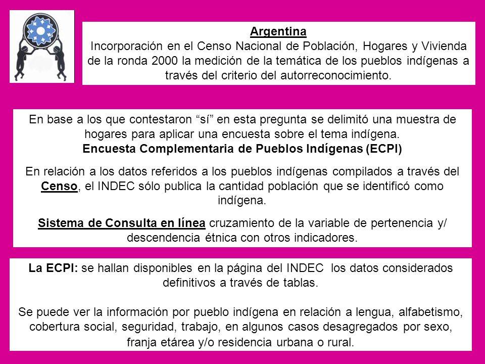 Encuesta Complementaria de Pueblos Indígenas (ECPI)