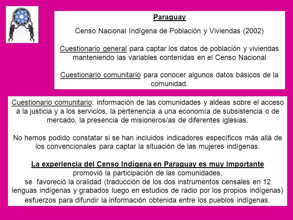 Censo Nacional Indígena de Población y Viviendas (2002)