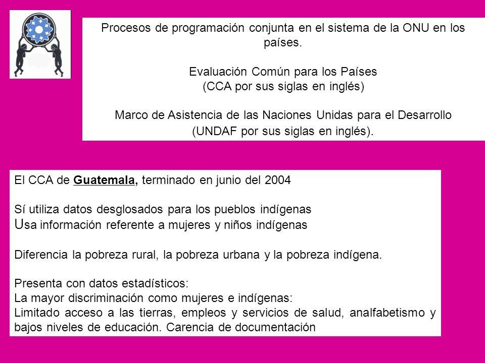 Usa información referente a mujeres y niños indígenas