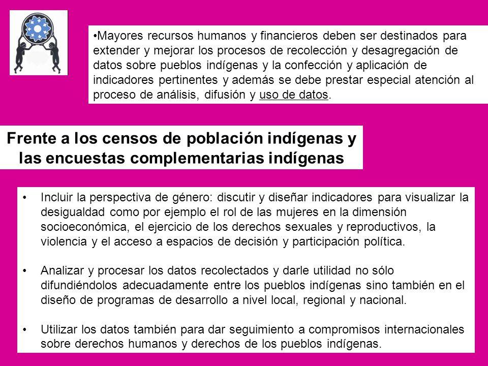 Frente a los censos de población indígenas y