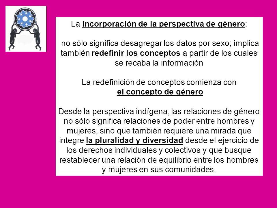 La incorporación de la perspectiva de género: