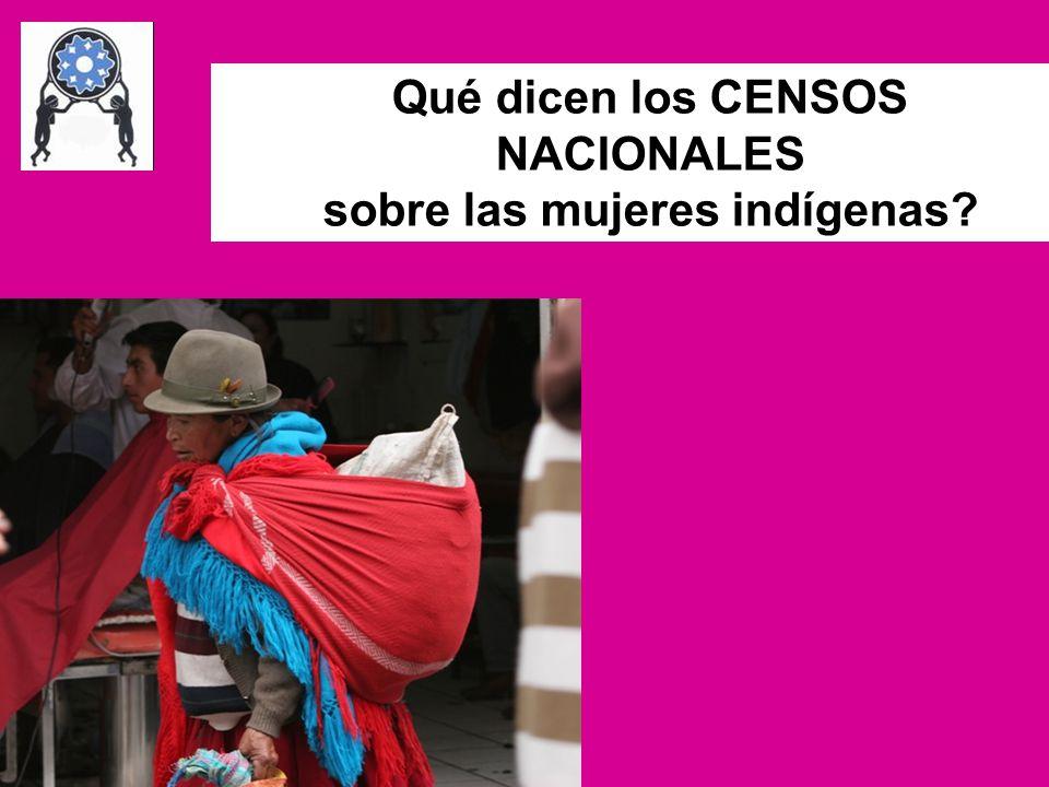 sobre las mujeres indígenas