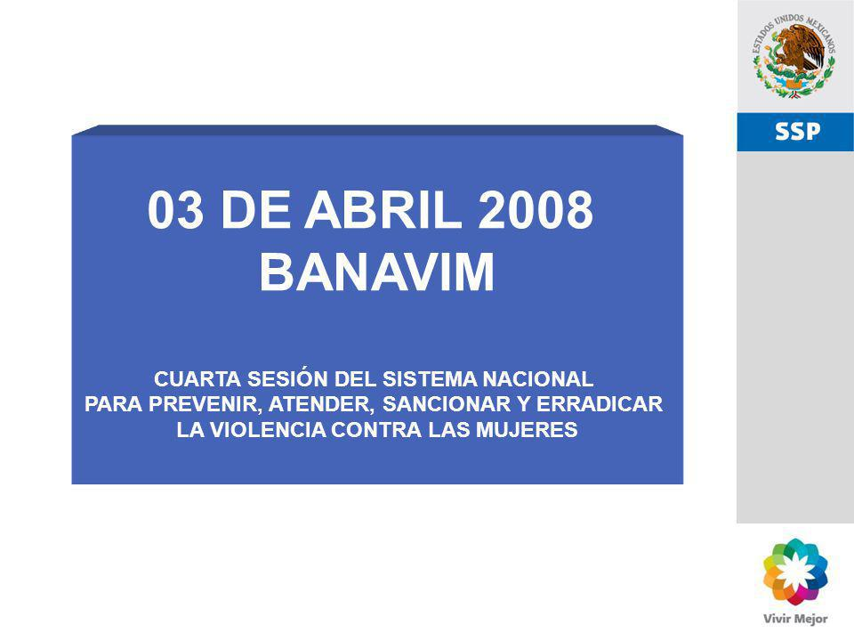 03 DE ABRIL 2008 BANAVIM CUARTA SESIÓN DEL SISTEMA NACIONAL