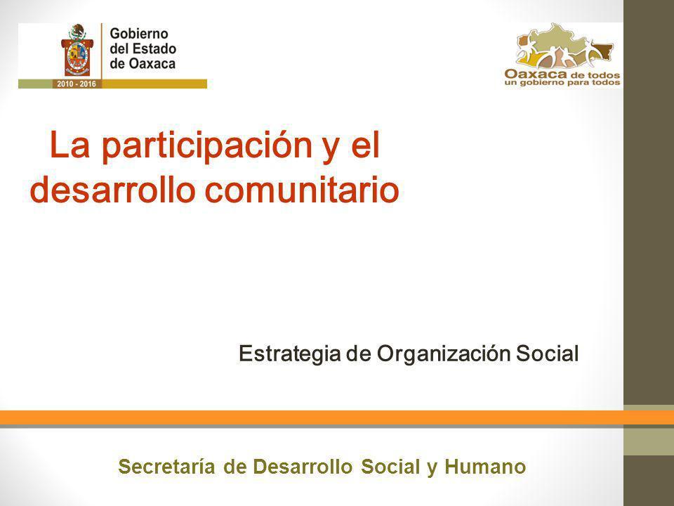 La participación y el desarrollo comunitario