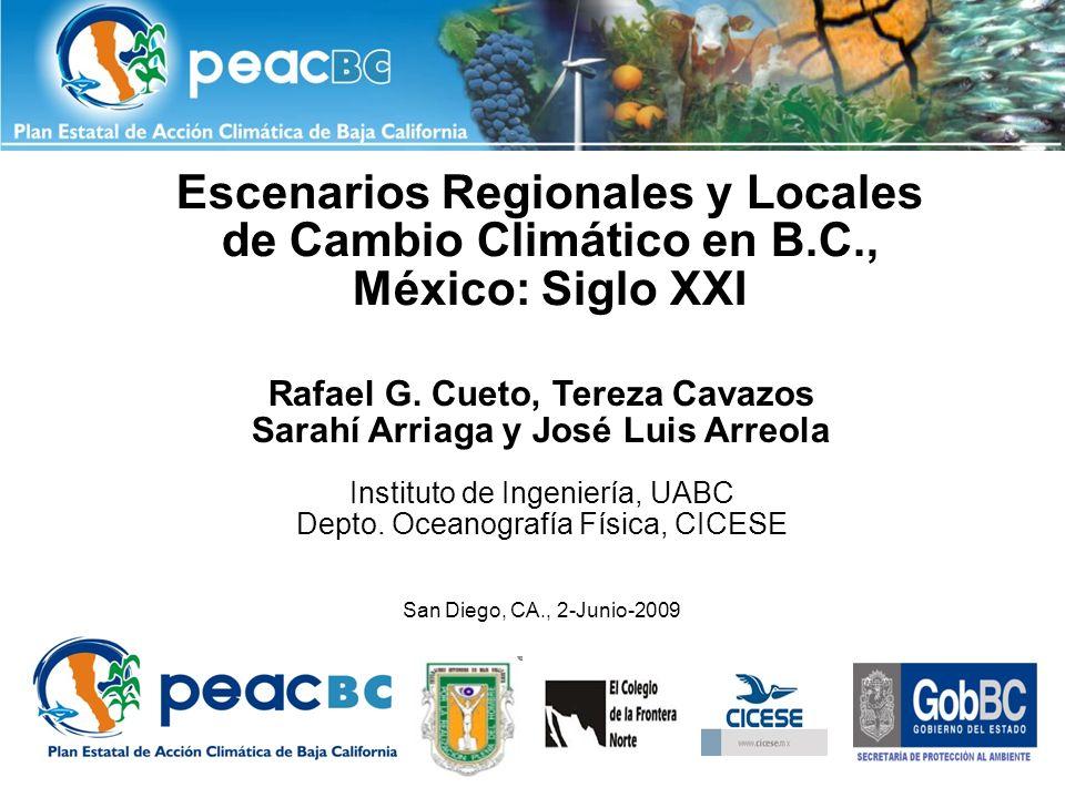 Escenarios Regionales y Locales