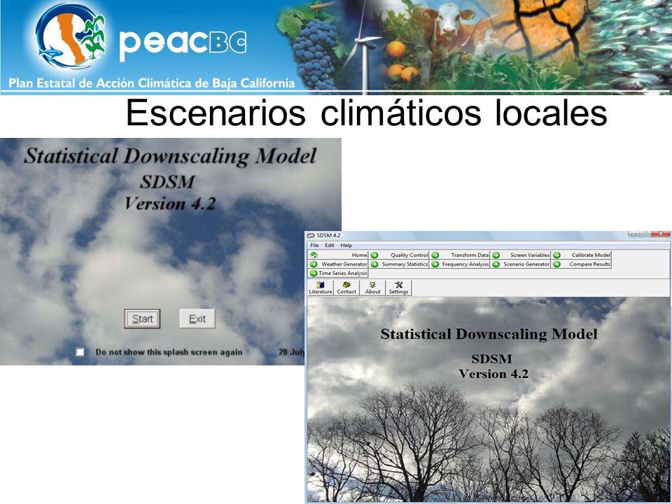 Escenarios climáticos locales