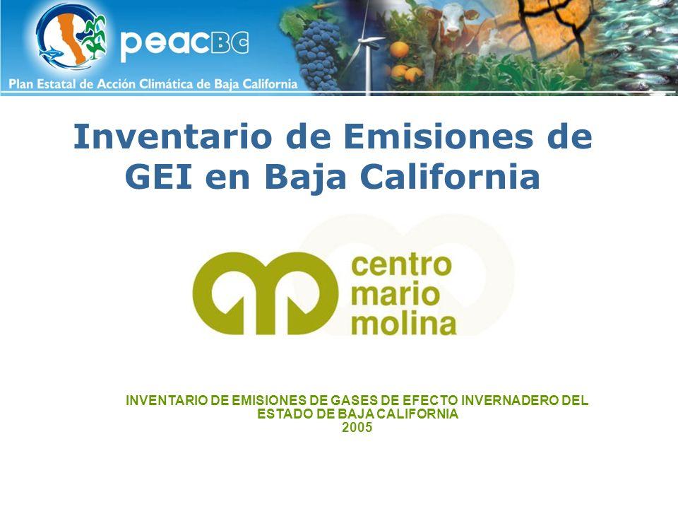 Inventario de Emisiones de GEI en Baja California