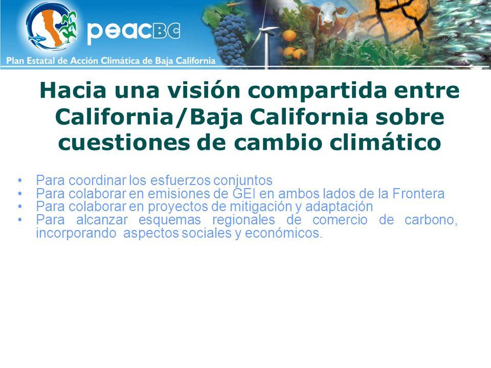 Hacia una visión compartida entre California/Baja California sobre cuestiones de cambio climático