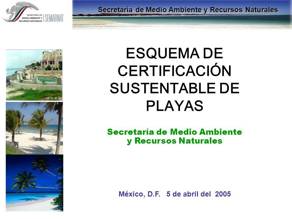 ESQUEMA DE CERTIFICACIÓN SUSTENTABLE DE PLAYAS