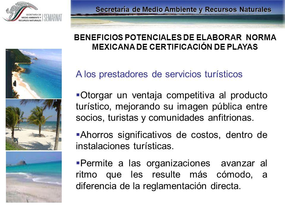 A los prestadores de servicios turísticos
