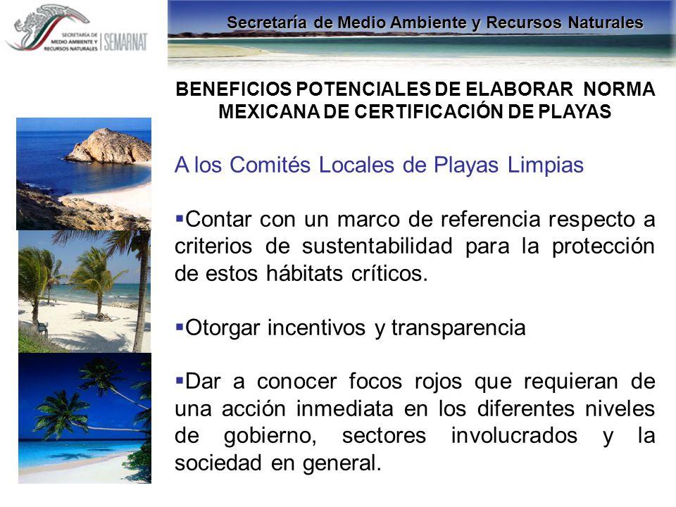 A los Comités Locales de Playas Limpias