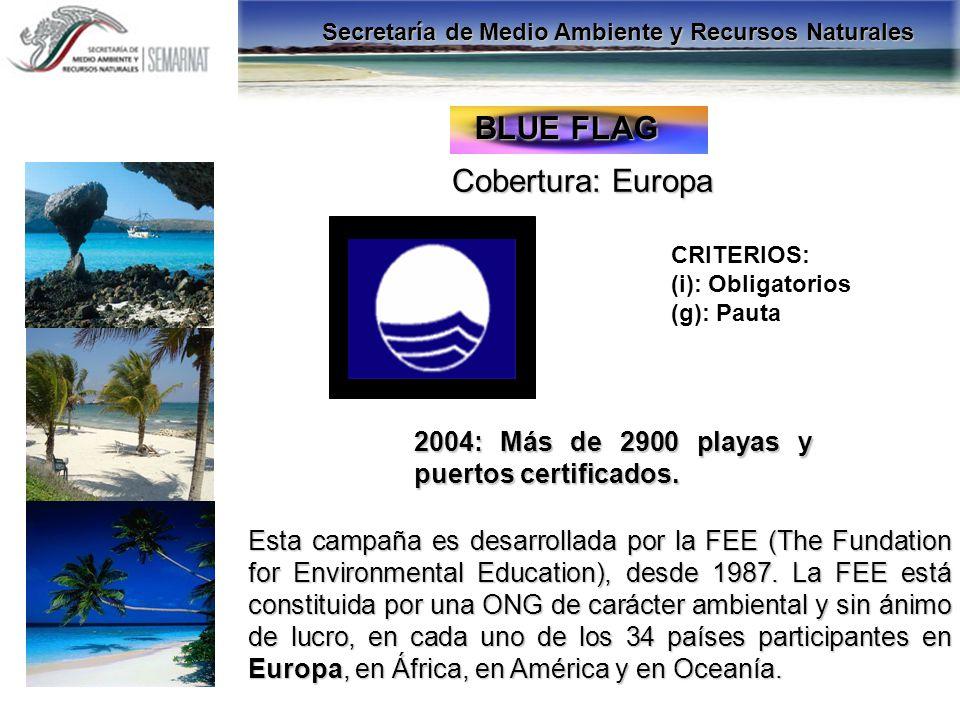 BLUE FLAG Cobertura: Europa
