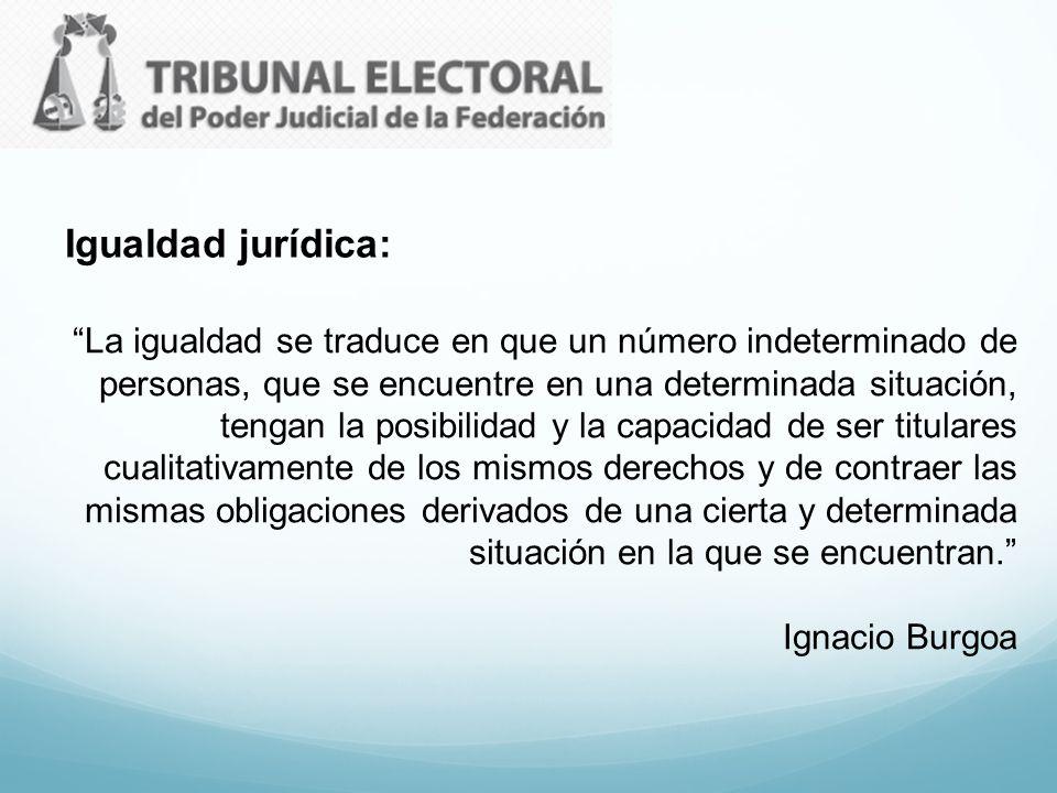 Igualdad jurídica: