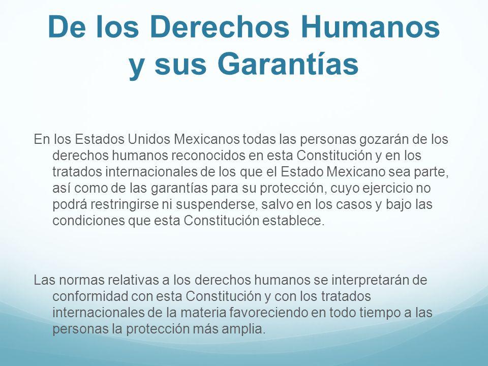De los Derechos Humanos y sus Garantías