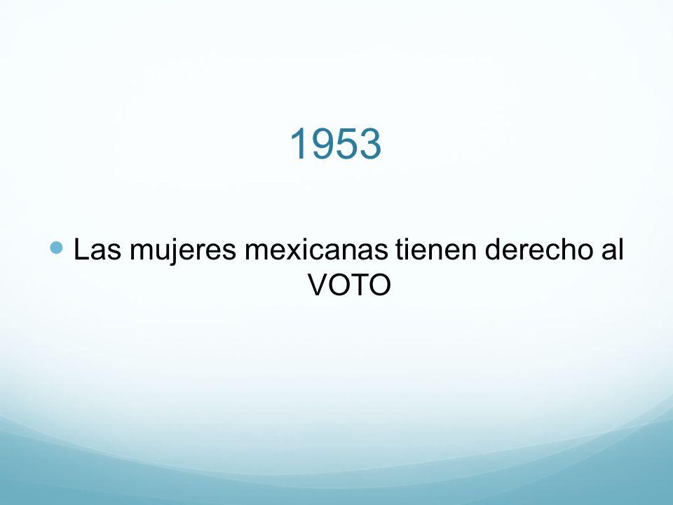 Las mujeres mexicanas tienen derecho al VOTO