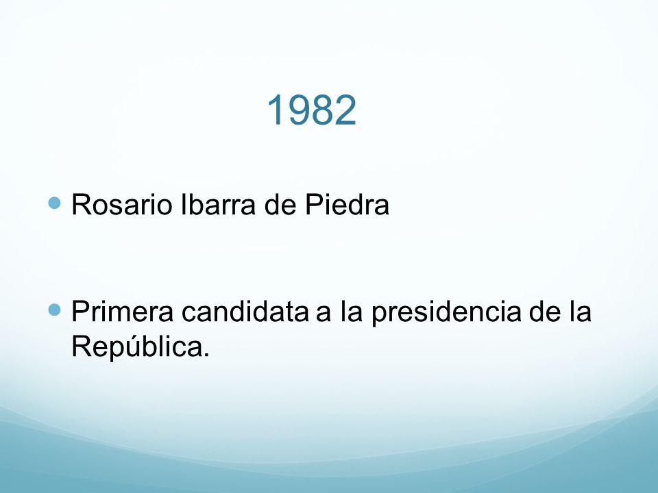 1982 Rosario Ibarra de Piedra