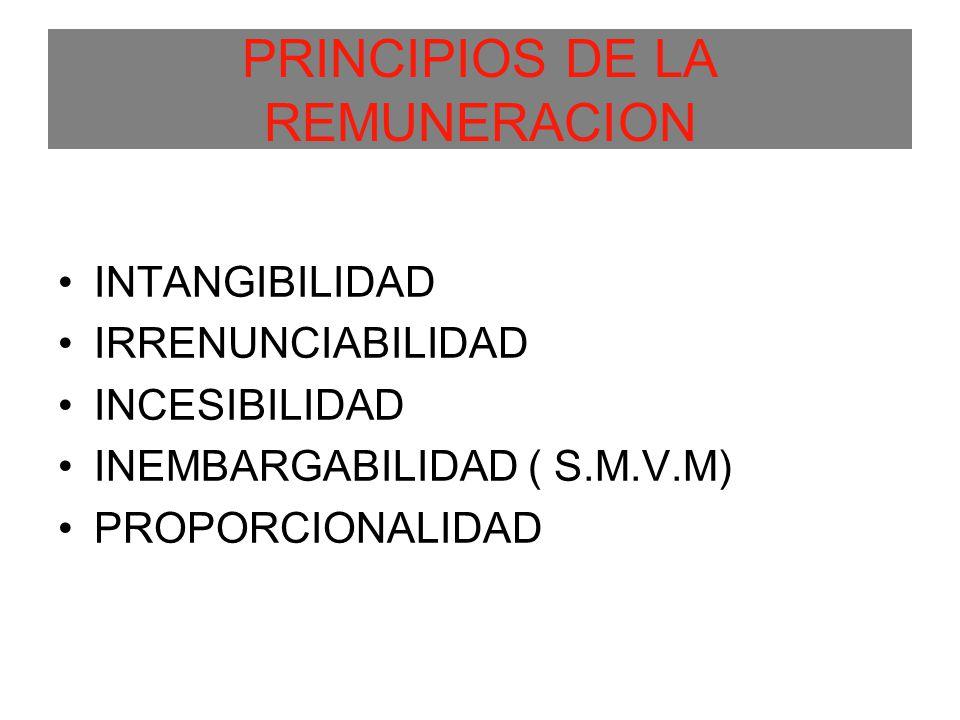 PRINCIPIOS DE LA REMUNERACION