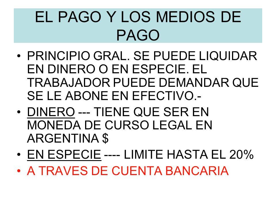 EL PAGO Y LOS MEDIOS DE PAGO