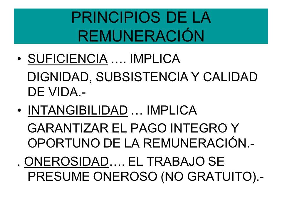 PRINCIPIOS DE LA REMUNERACIÓN