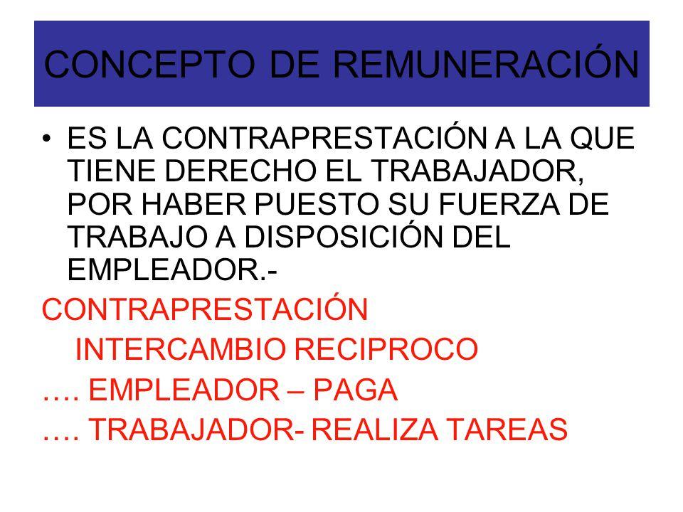 CONCEPTO DE REMUNERACIÓN