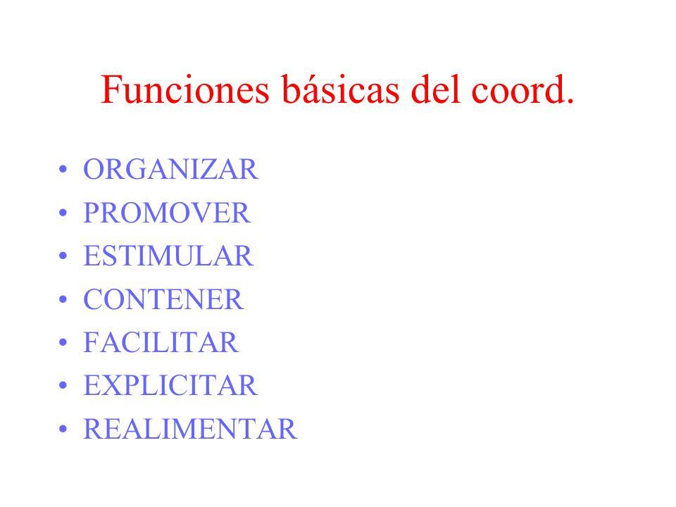 Funciones básicas del coord.