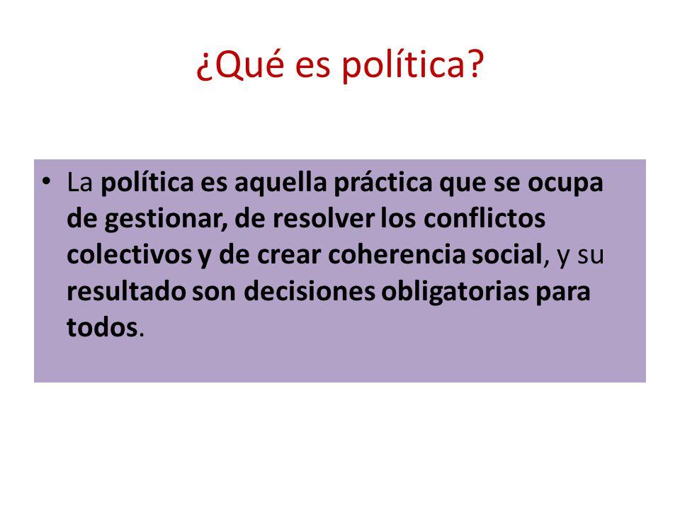 ¿Qué es política