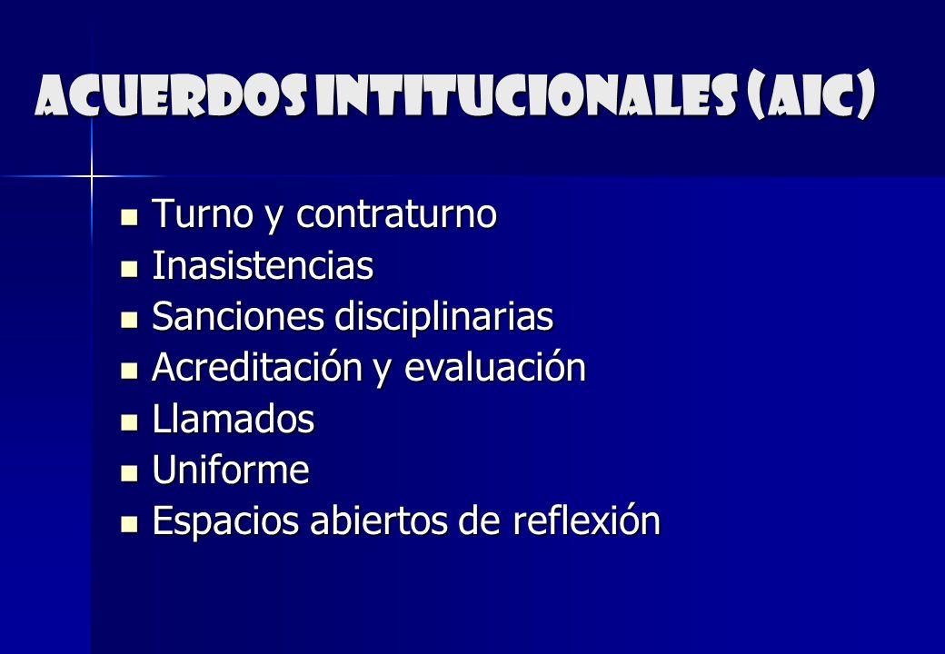 Acuerdos intitucionales (aic)