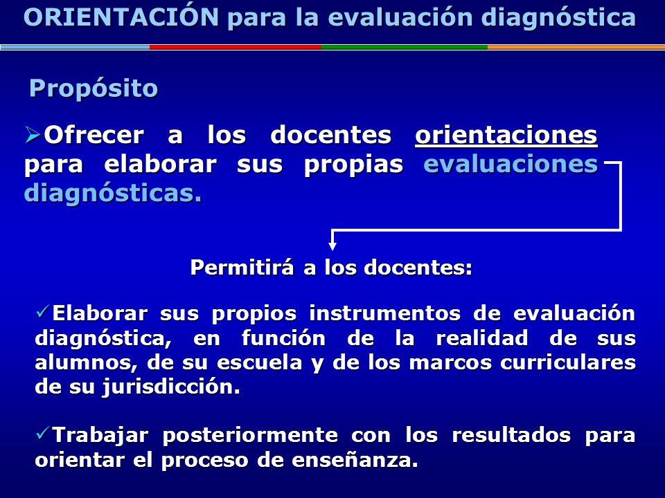 ORIENTACIÓN para la evaluación diagnóstica