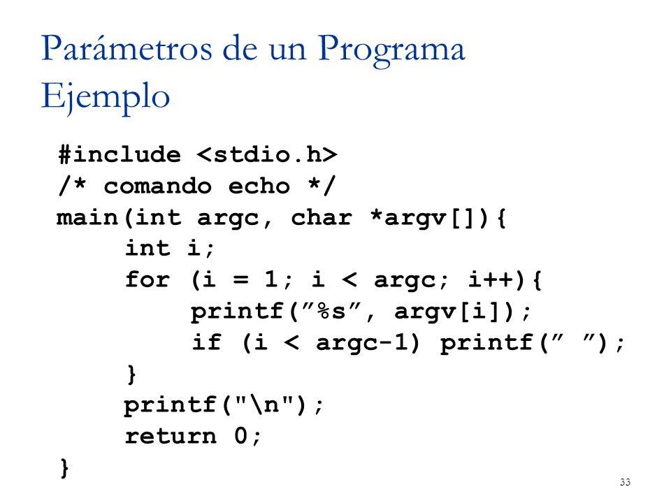 Parámetros de un Programa Ejemplo