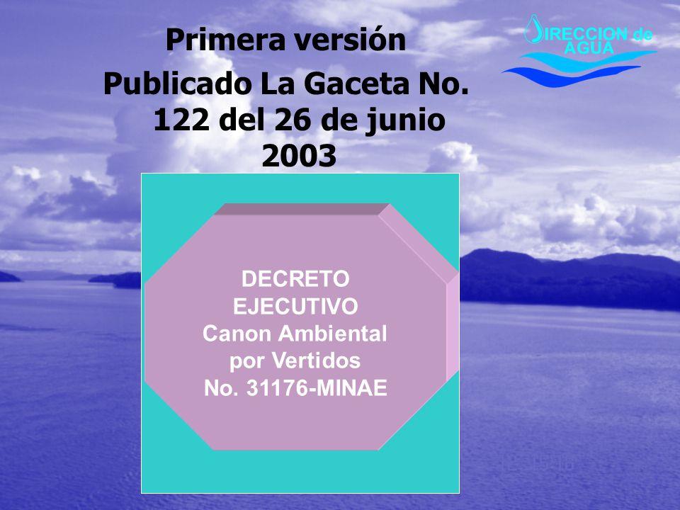 Publicado La Gaceta No. 122 del 26 de junio 2003
