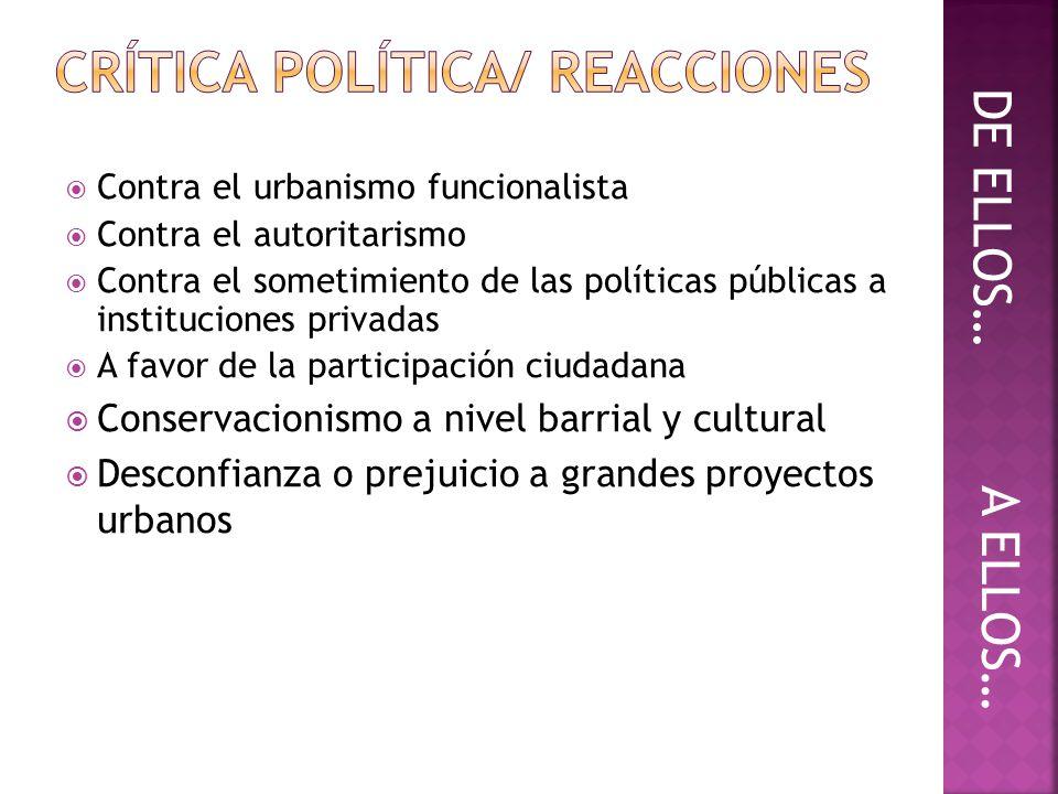 CRÍTICA POLÍTICA/ REACCIONES