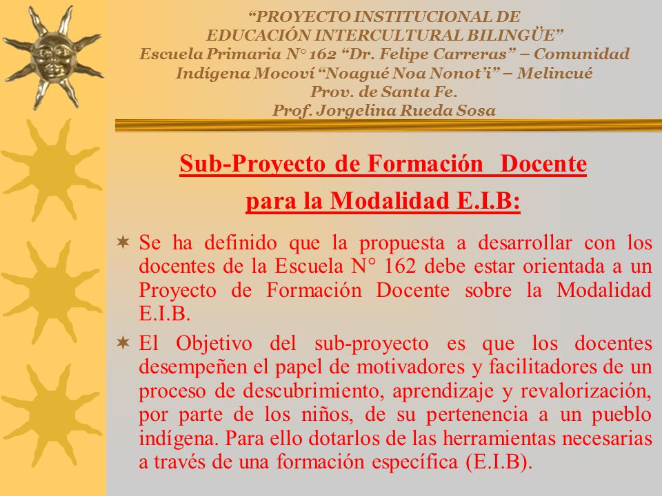 Sub-Proyecto de Formación Docente