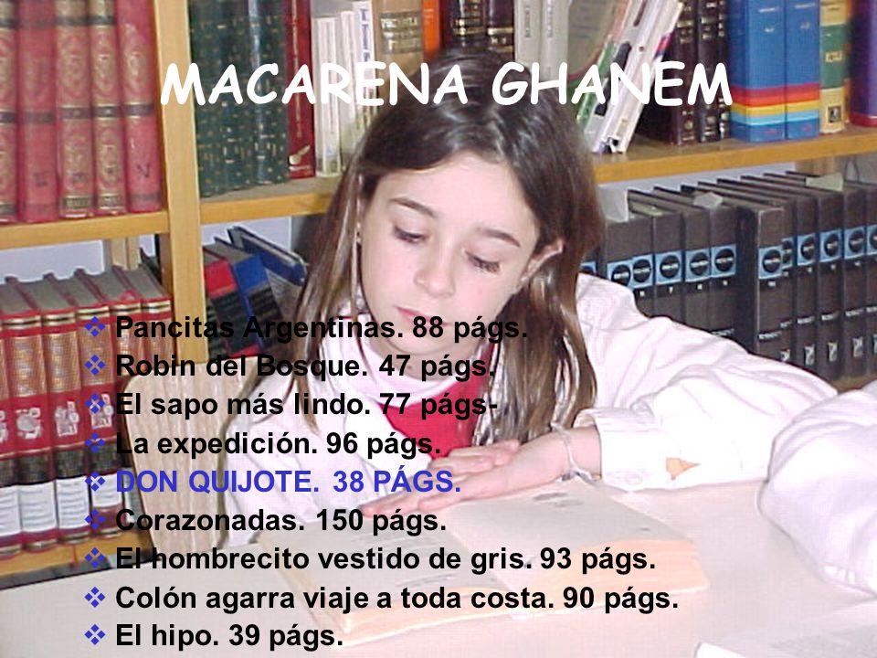 MACARENA GHANEM Pancitas Argentinas. 88 págs.