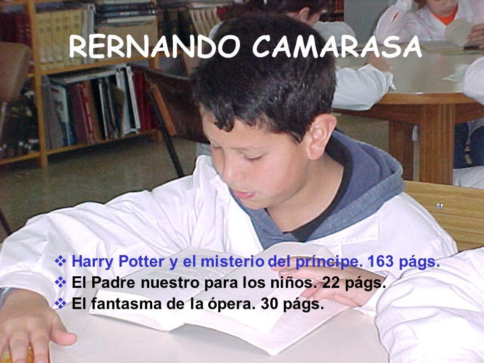 RERNANDO CAMARASA Harry Potter y el misterio del príncipe. 163 págs.