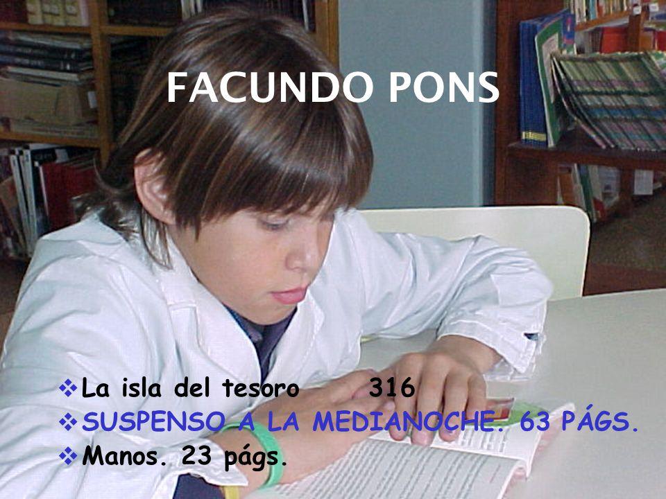 FACUNDO PONS La isla del tesoro 316 SUSPENSO A LA MEDIANOCHE. 63 PÁGS.