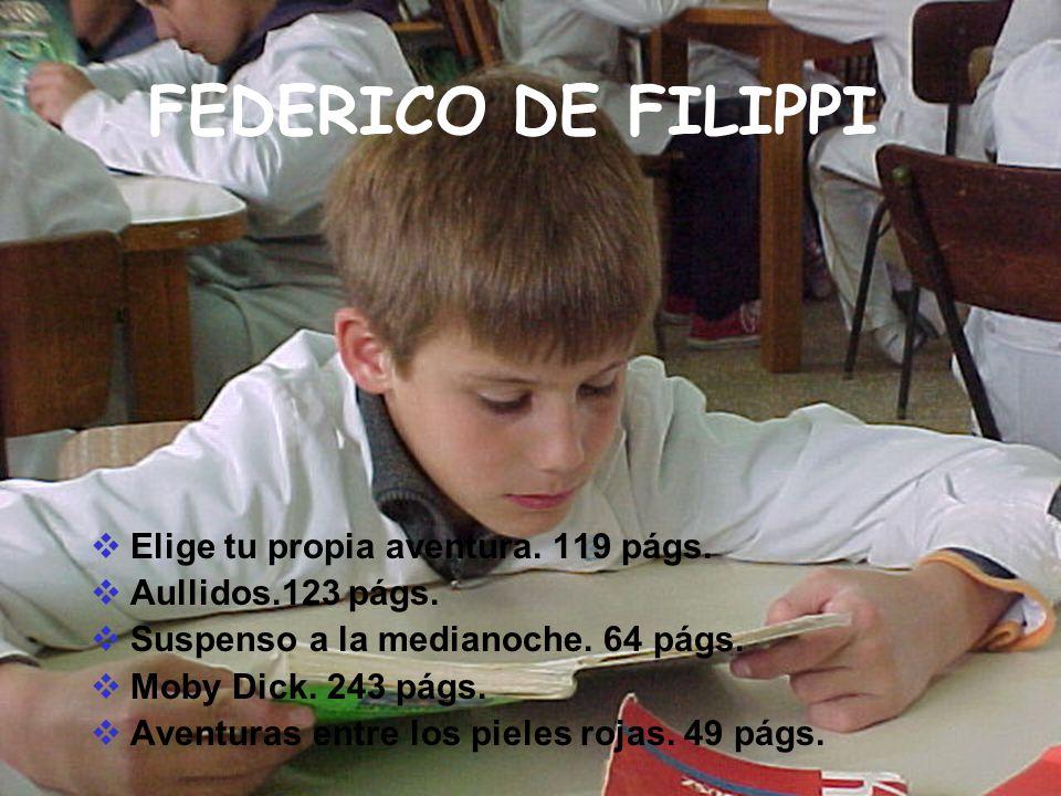 FEDERICO DE FILIPPI Elige tu propia aventura. 119 págs.