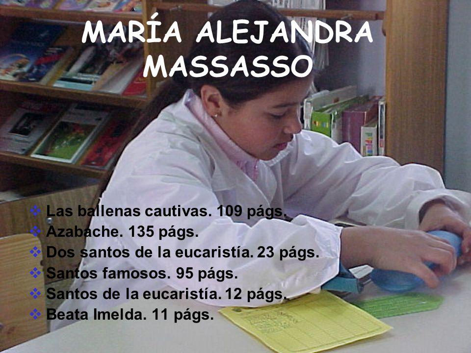 MARÍA ALEJANDRA MASSASSO