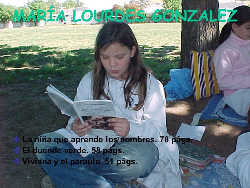 MARÍA LOURDES GONZALEZ