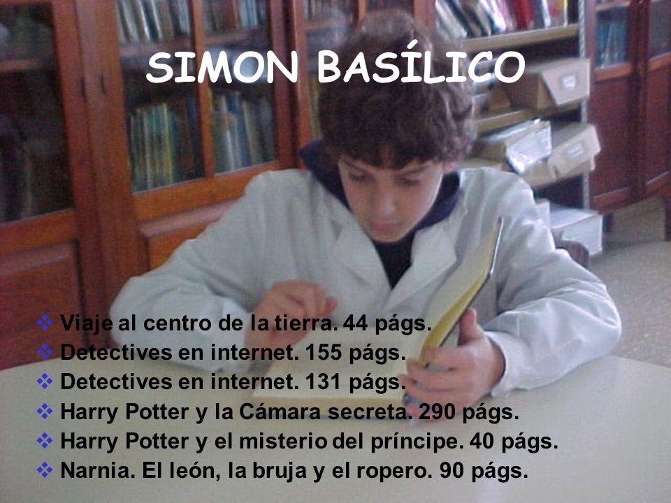 SIMON BASÍLICO Viaje al centro de la tierra. 44 págs.