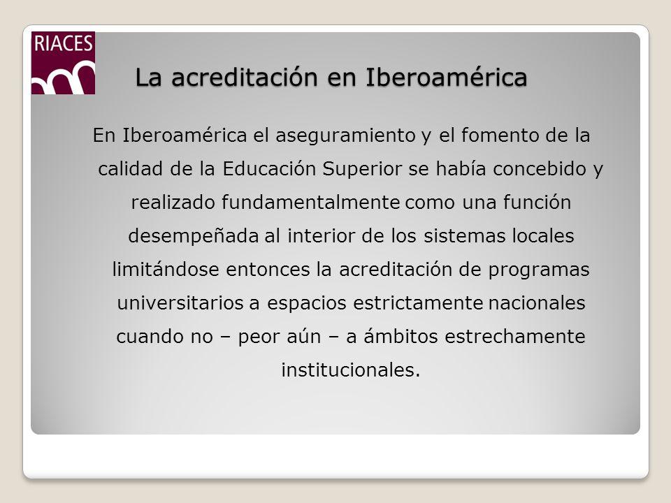 La acreditación en Iberoamérica