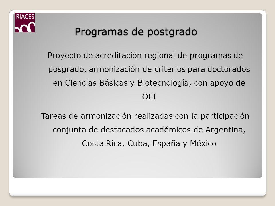 Programas de postgrado