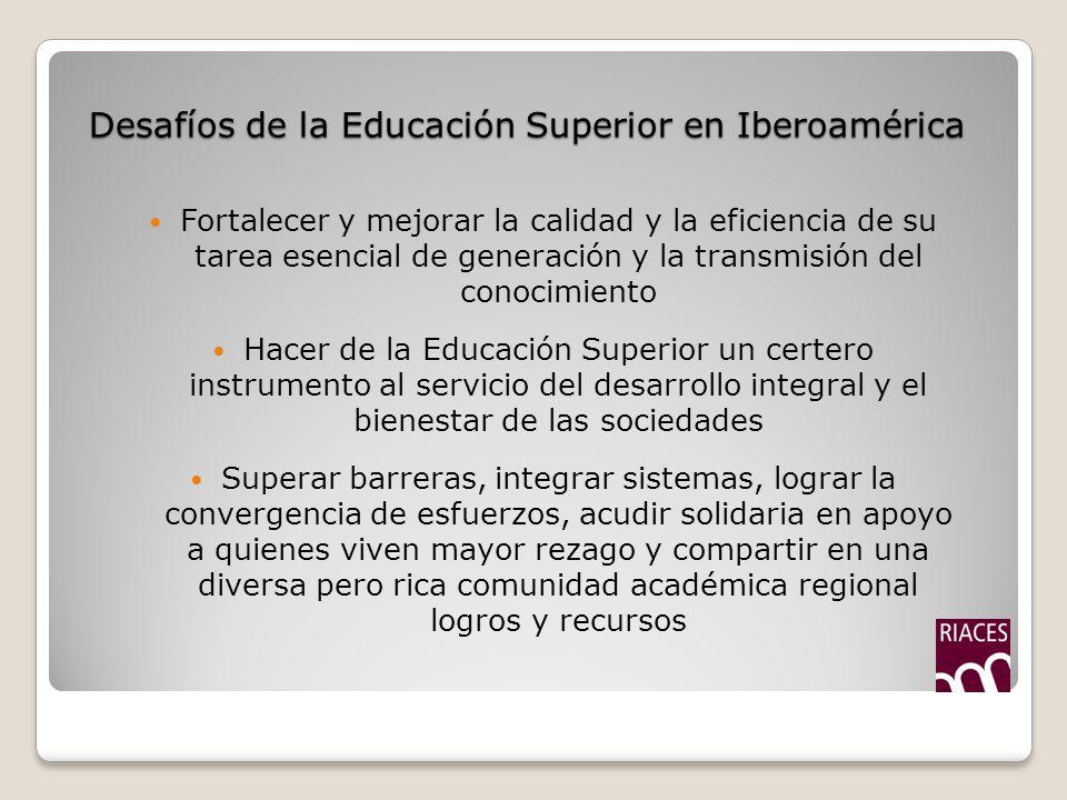 Desafíos de la Educación Superior en Iberoamérica