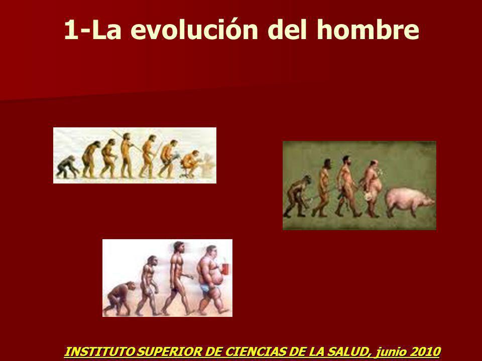 1-La evolución del hombre