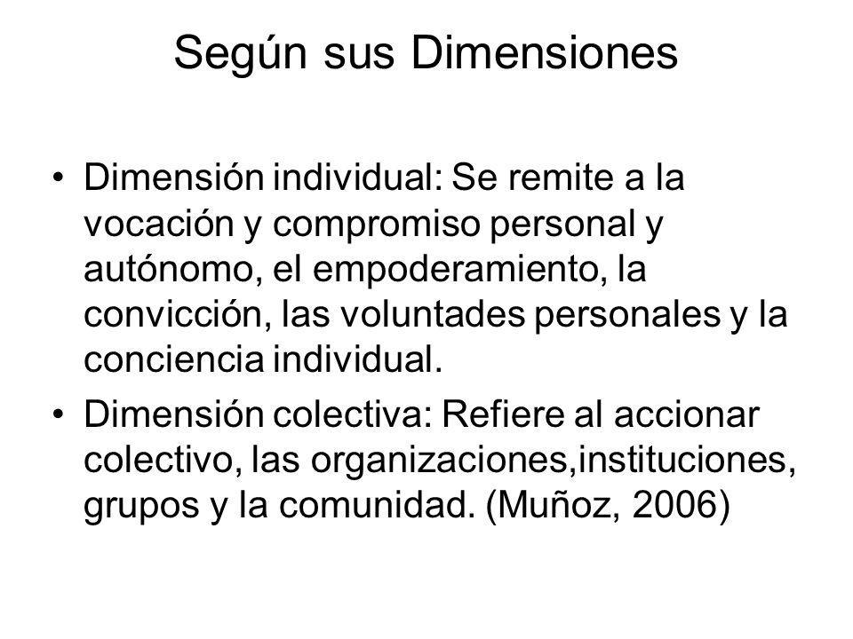 Según sus Dimensiones