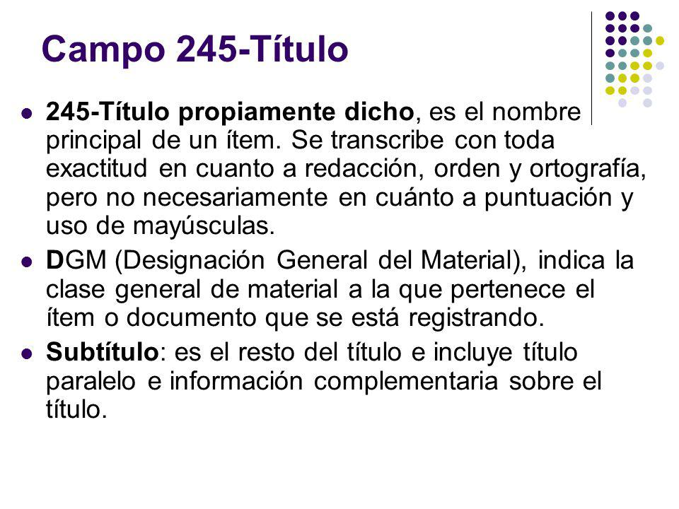 Campo 245-Título