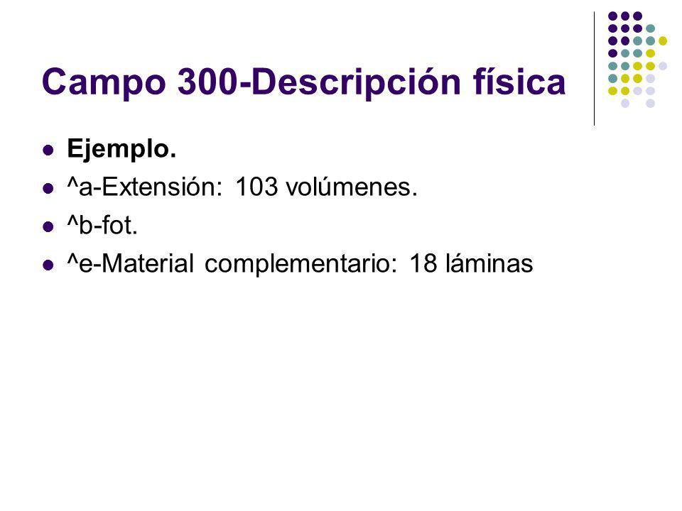 Campo 300-Descripción física