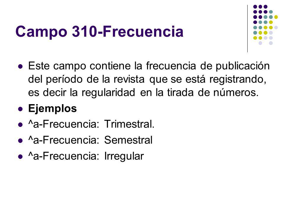 Campo 310-Frecuencia