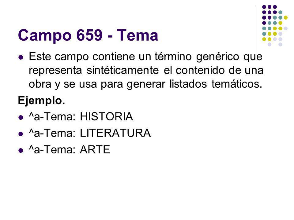 Campo 659 - Tema