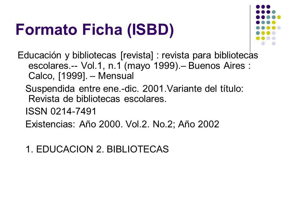 Formato Ficha (ISBD)