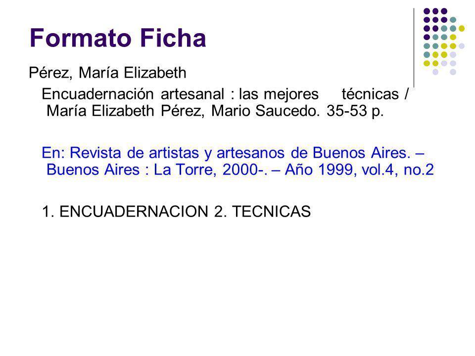 Formato Ficha Pérez, María Elizabeth